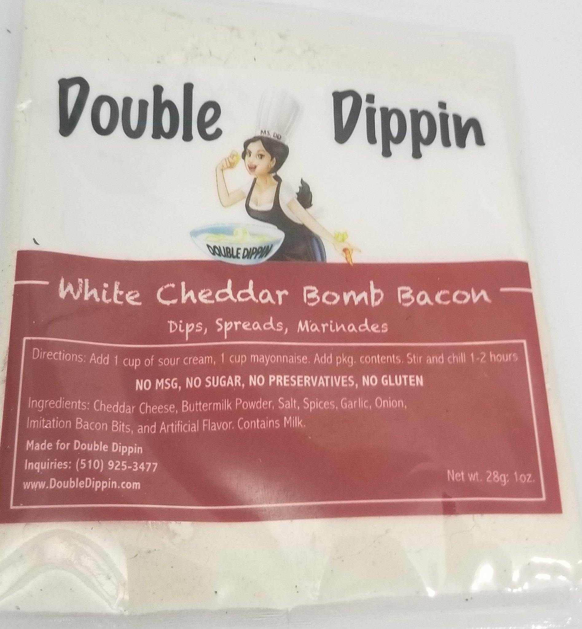 Buy Dips Online - Gluten free dips White Cheddar Bomb Bacon Dip - DoubleDippin