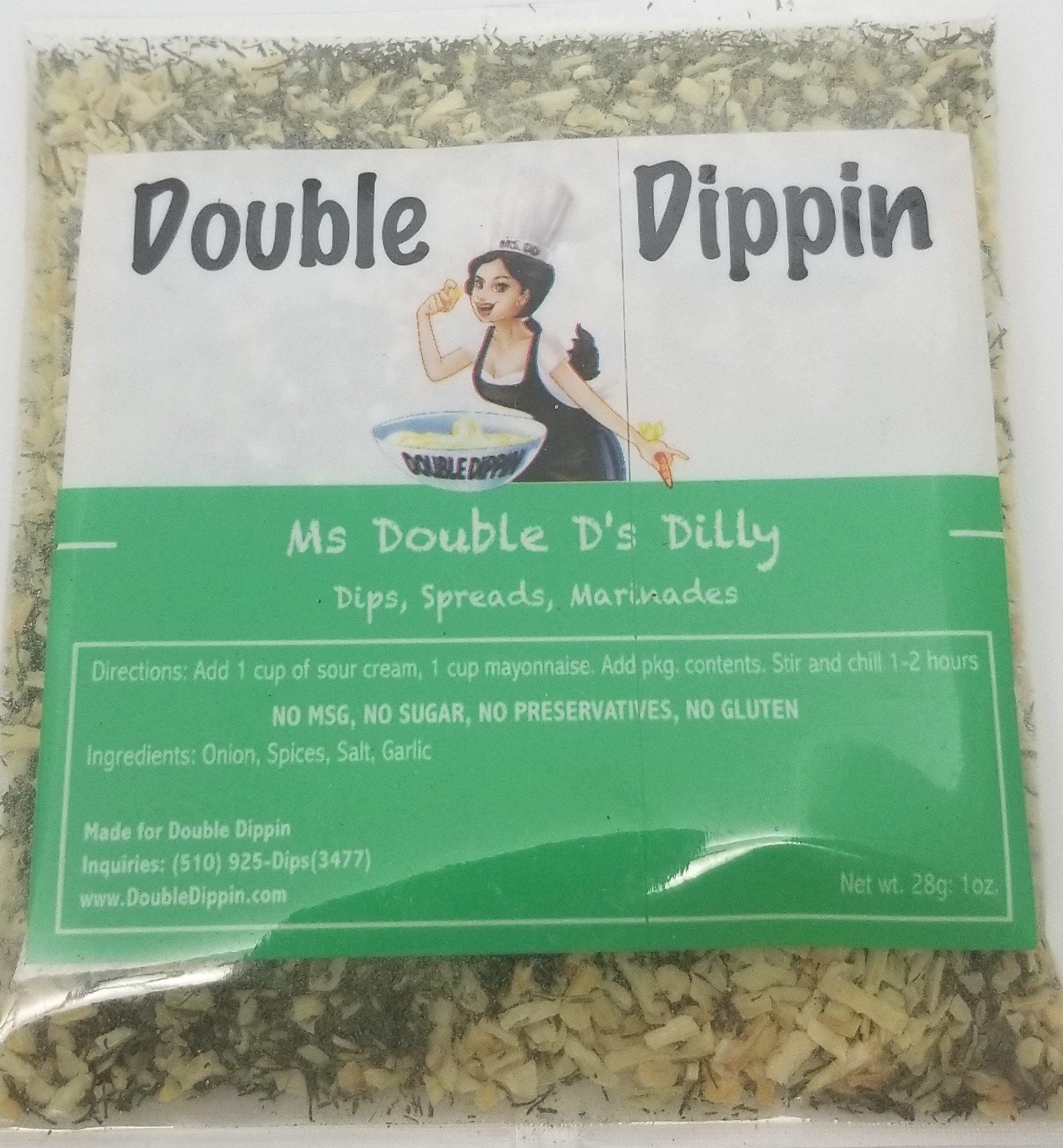 Buy Dips Online - Gluten free dips Ms Double D's Dilly - DoubleDippin