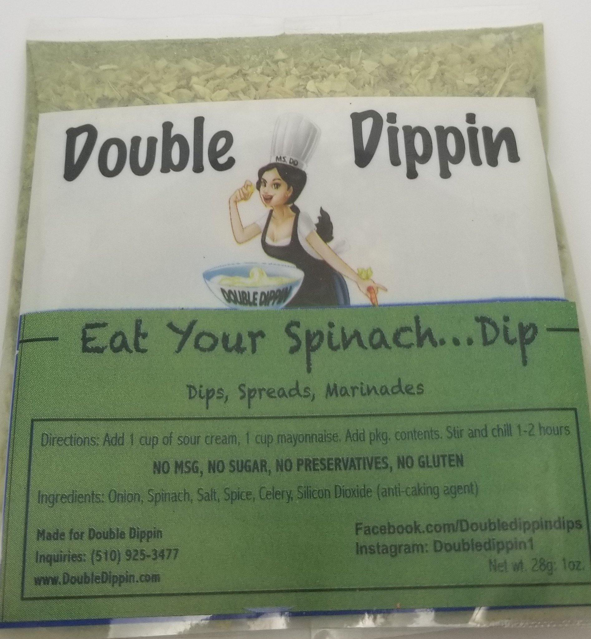 Buy Dips Online - Gluten free dips Eat Yo' Spinach.... Dip - DoubleDippin