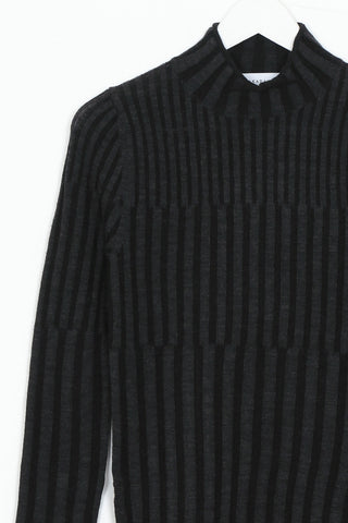 MULTI RIB MOCK NECK KNIT