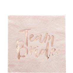 Team Bride Servietter i Rose gold