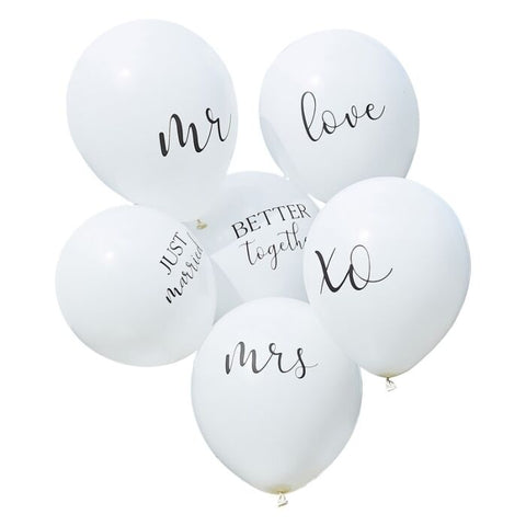 Hvid Ballon buket - Better together & Just Married