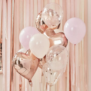Ballonbuket i Blush & Rose Gold