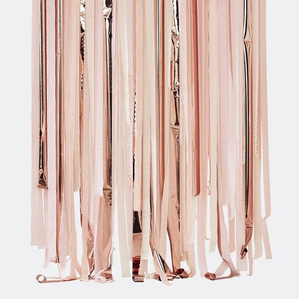 Rose Gold/lyserød Backdrop-streamers