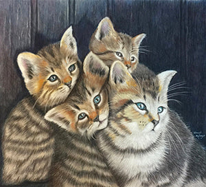 Stuck in the Middle - Colored Pencil Artwork by Cheryl Metzger