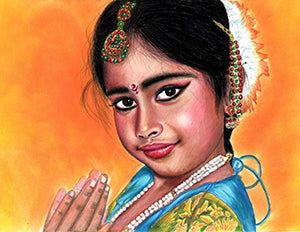 Gudiya (Doll) - Colored Pencil Artwork by Neelima Roy Patibandla