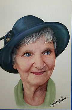 Gwen - Colored Pencil Artwork by Elizabeth Hatwell-Evans
