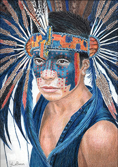 PowWow - Colored Pencil Artwork by Linda LeBaron