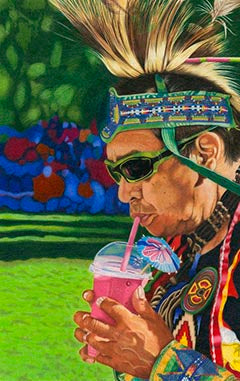Anachronism - Colored Pencil Artwork by Theresa Rhodus