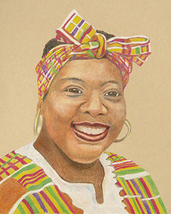 Celebrating Heritage - Colored Pencil Artwork by Carolyn Langley