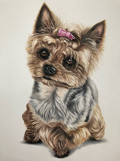 Pink Ribbon - Colored Pencil Artwork by Maggie Frisch