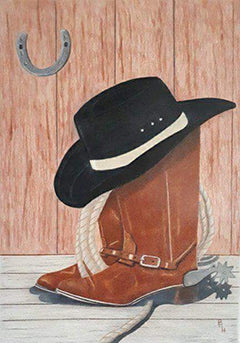 Way Out West - Colored Pencil Artwork by Paul Hunt