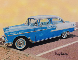 Chevy Bel-Air - Colored Pencil Artwork by Lori Willis