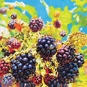 Wildberries - Colored Pencil Artwork by Rhonda Dicksion