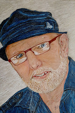 Self Portrait - Colored Pencil Artwork by Richard Tonge
