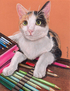Over the Rainbow - Colored Pencil Artwork by Anastasia Steuterman
