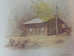 Karen's Cabin - Colored Pencil Artwork by Patricia Hovis-French