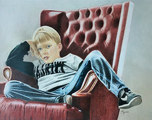 Sammie - Colored Pencil Artwork by Cathie Horrell