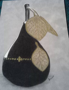 The Perfect Pear - Colored Pencil Artwork by Patricia Schrank