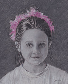 Katie - Colored Pencil Artwork by Marilyn Nixon