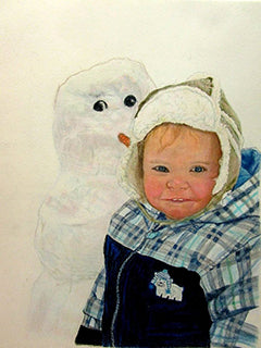 Cold Weather Friends - Colored Pencil Artwork by Johanna Rebman