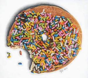 I Donut Like Sprinkles - Colored Pencil Artwork by Jocelyn Brandow