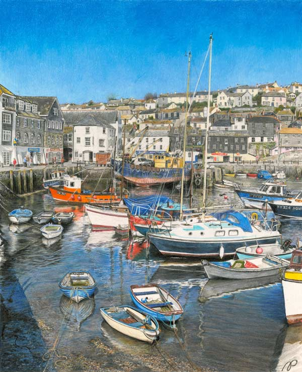 Mevagissey Harbour by Alison Powell