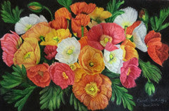 Iceland Poppies - Colored Pencil Artwork by Carol Hattingh