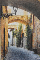 Wandering Orvieto - Colored Pencil Artwork by Caryn Coville