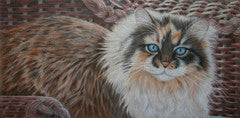 Whiskers and Wicker - Colored Pencil Artwork by Dede Barsness