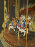 Merry-go-round - Colored Pencil Artwork by Denise Wilson