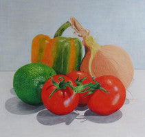 Family Group - Colored Pencil Artwork by Jane Tivey
