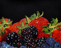 A Heap Of Berries - Colored Pencil Artwork by Janet Ellington Horton