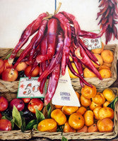 Red Hot Chilli Peppers - Colored Pencil Artwork by Judith Selcuk