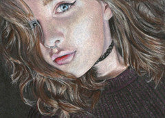 Sophie's Selfie - Colored Pencil Artwork by Julie King