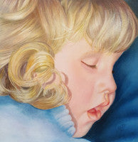 Beauty Sleep - Colored Pencil Artwork by Kathy Lally
