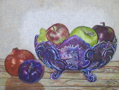 Bol de fruits - Colored Pencil Artwork by Nancy Thomas