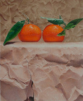 Mandarins and paper - Colored Pencil Artwork by Paco Martin Dominguez