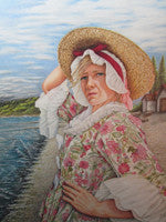 The Sea Captain's Wife - Colored Pencil Artwork by Pam Gassman
