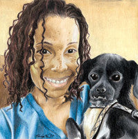 Heather and Rocco - Colored Pencil Artwork by Philippe Thomas