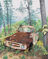 Abandoned - Colored Pencil Artwork by Ruth Paul