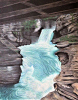 Glacier Park, Crown of the Continent - Colored Pencil Artwork by Shannon Johnson