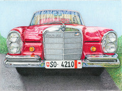 Pete's Benz - Colored Pencil Artwork by Sue Grimm