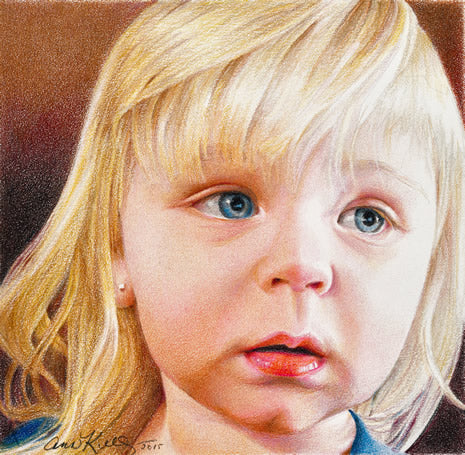 Little Wary One by Ann Kullberg - Colored Pencil Art