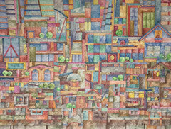 Megalopolis' Realm - Colored Pencil Artwork by Thelma Lazo-Flores