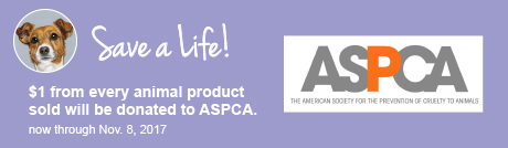 $1 from every animal product sold will be donated to ASPCA.