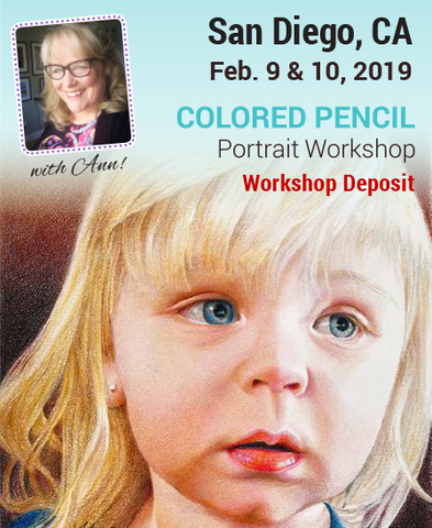 San Diego, CA 2-Day Colored Pencil Portrait Workshop Deposit
