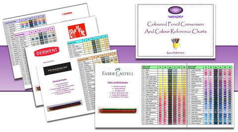 Custom - Karen Hull Colored Pencil Conversion Chart- Instant Download