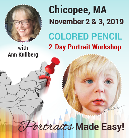 Chicopee, MA 2-Day Colored Pencil Portrait Workshop Deposit