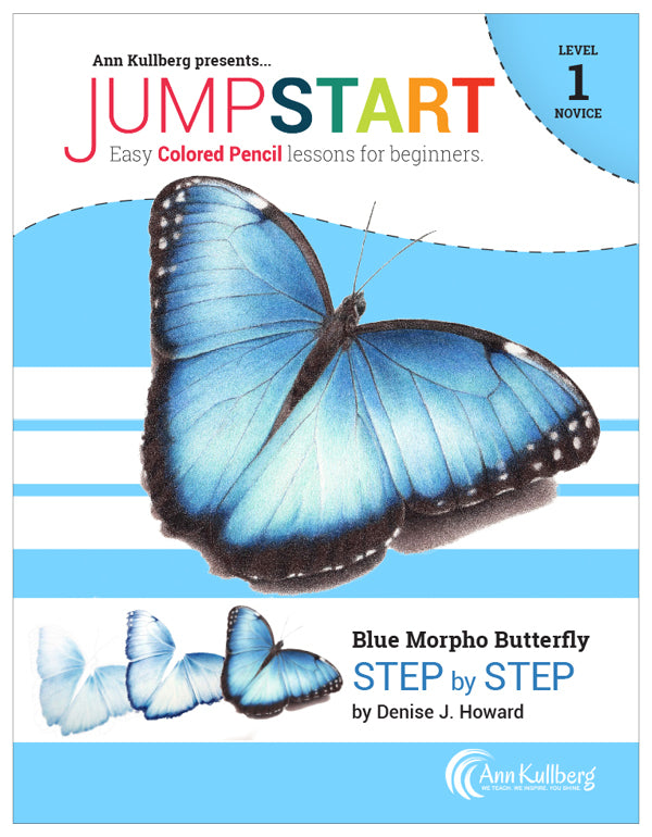 Jumpstart Level 1: Blue Butterfly in Colored Pencil